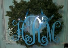 3 Letter Metal Monograms on sale this week. $32.50-$45.00