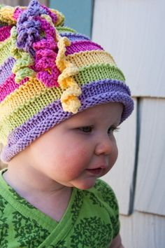 Knitting Patterns Kinder Strickmütze Ruby von Barbara& Beanies on Etsy I think I can . Baby Knitting Patterns, Loom Knitting Projects, Baby Hats Knitting, Knitting For Kids, Free Knitting, Crochet Patterns, Children's Knitted Hats, Hat Patterns, Knitted Bags