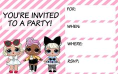 Musings of an Average Mom: L.O.L. Surprise Invitations
