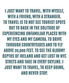 Do you want to travel?