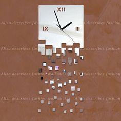Início decoração relógio de parede design moderno relógio de parede espelho de luxo , cristal espelho de parede 3d relógios relógios de parede michael em Roteadores instalados de Casa & jardim no AliExpress.com