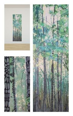 Mixing it up ! Liquid Acrylic and Zentangles : Walking in the woods