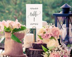 Wedding Table Numbers Printable Table par BlissPaperBoutique