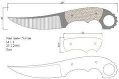 Чертежи ножей для изготовления. Часть 1