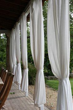 billowy, gauzy, curtains for the backyard retreat feel