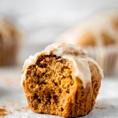 Amazing, fluffy butternut squash muffins infused with cozy homemade chai spices and then topped with a sweet salted honey glaze that's truly irresistible. These fall inspired freezer-friendly muffins have hints of caramel flavor thanks to a touch of brown butter and are delicious with a cup of coffee! Healthy Carrot Cakes, Healthy Muffin Recipes, Healthy Pumpkin, Healthy Muffins, Snack Recipes, Fall Recipes, Breakfast Recipes, Healthy Breakfasts, Paleo Breakfast