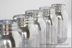 Mason Jar Mercury Glass DIY - Mason Jar Crafts Love