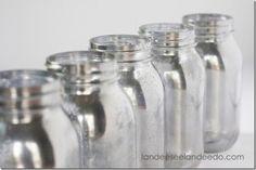 Mason Jar Mercury Glass DIY - Mason Jar Crafts Love