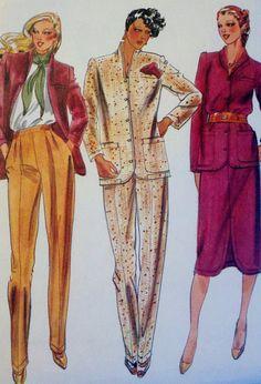 Vintage Sewing Pattern Womens Jacket Skirt & by Sutlerssundries, $8.00