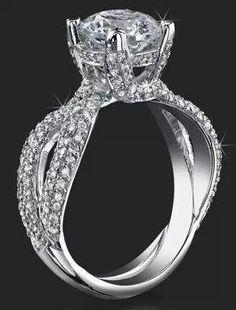 Double band diamond solitare ring !!! Gorgeous!!!!!