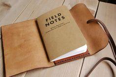 Woodlander Field Notes, Rustic Leather Handmade Journals