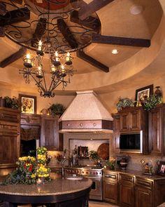 Ceiling Treatments by Stadler Custom Homes - mediterranean - kitchen - other metro - Stadler Custom Homes
