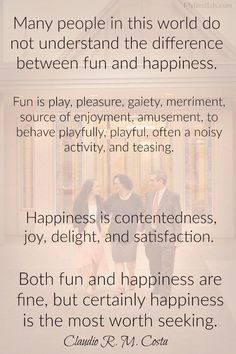 LDS quote on fun and happiness from general conference