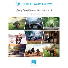 The Piano Guys: Simplified Favorites (Vol 1) Easy Piano With Optional Cello