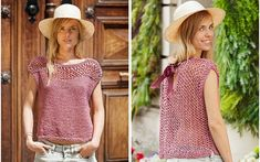 Knit Crochet, Crochet Hats, Drop Top, Summer Knitting, Blouses For Women, Knitting Patterns, Cashmere, Lady, Clothes