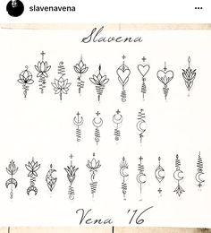 Unalome pieces by @slavenavena