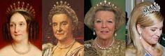 4 koninginnen met de pareltiara