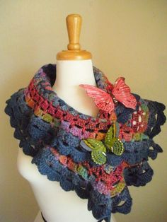 spring crafts: colorful scraves, free crochet patterns | make handmade, crochet, craft