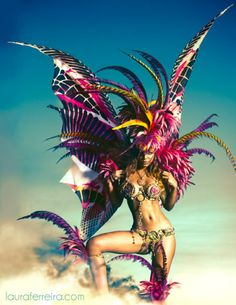 #Costume designed by Project Runway Season 9 winner Anya Ayoung-Chee perfect for #BurningMan (with a feather alternate of course for No-mooping:)