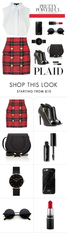 """Untitled #134"" by hautedistrict ❤ liked on Polyvore featuring Balmain, Alexander Wang, Tom Ford, Chloé, Bobbi Brown Cosmetics, CLUSE and MAC Cosmetics"