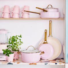Cute Kitchen, Kitchen Items, Kitchen Gadgets, Pink Kitchen Decor, Pink Home Decor, Stylish Kitchen, Pink Kitchen Walls, Pink Kitchen Appliances, Peach Decor
