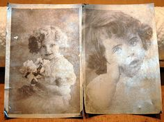 LOVE this pin! FAUX TIN TYPE TUTORIAL..transfer photos to tin. Make yor own ancestors! Haha. REALLY, this is AMAZING!