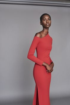 Solace London Liva Dress Red from Resort Body-con maxi dress with exposed shoulder and exaggerated high neckline detail. Lilac Dress, Green Dress, Dress Red, Winter Dresses, Evening Dresses, Prom Gowns, Homecoming Dresses, Party Dresses, Nova Dresses