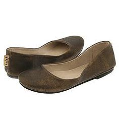 Bronze suede flats that look like my velvet house slippers from Toast, but I can wear these outside.