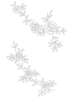 Floral Embroidery Patterns, Border Embroidery, Hand Work Embroidery, Flower Embroidery Designs, Hand Embroidery Stitches, Embroidery Fashion, Embroidery Techniques, Embroidery Art, Bordado Floral