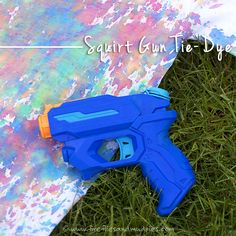 Squirt Gun Tie-Dye! Kids of all ages will enjoy using squirt guns to create vibrant, tie-dyed shirts!