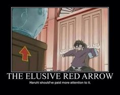 The red arrow is probably one of my favorite parts of the show