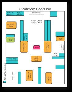 Flexible Seating and Kinesthetic Classroom Tips - Floor plan