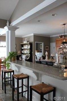 Favorite Paint Colors - Sticks and Stones by Sherwin Williams {really like the look of the black, white, and taupe color together} by Shopway2much