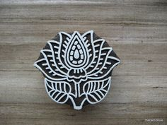 Lotus Flower Stamp / Block Print Stamp / Wooden by theDelhiStore Makes me want to paint something....