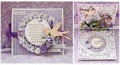 """Bursdagskort til Februarutfordringen. Ark fra """"Hell og Lykke"""" Blomster, stempler, fugler, 3Dputer og stickers er også fra Papirdesign"""