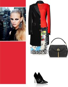 """miss red flare"" by ishitamishra-nid on Polyvore"
