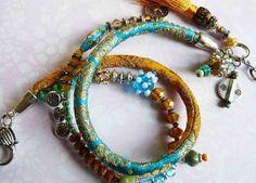 yellow sun silk brocade wrap bracelet