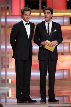 Chris Pine and Zachary Quinto ~ Golden Globe Awards 2009