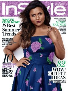 InStyle June 2015 Cover with MIndy Kaling