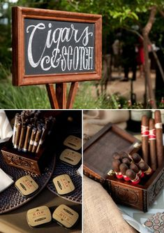 Cigar bar for the reception