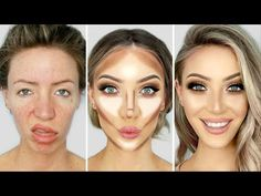 0 100 glow up today i m doing a makeover on myself where i start out with no makeup at all to finishing up with a super glam glowy look this video was sp Purple Eye Makeup, Glowy Makeup, Contour Makeup, Natural Makeup, Face Makeup, Nose Contouring, Beauty Make-up, Beauty Tips For Skin, Beauty Hacks