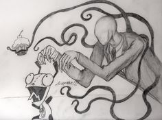 Slender Man vs. Gir by MarieDRose.deviantart.com on @deviantART