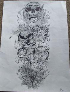 Skull and nature full sleeve by ~josephblacktattoos on deviantART