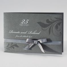 Sehr Elegante Jubiläumskarten Zur Silberhochzeit. Ein Edler Blickfang!  Einladungskarten SilberhochzeitBlickfang