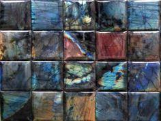Labradorite tiles, gorgeous.