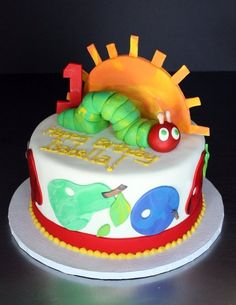 Very Hungry Caterpillar cake by Sugar Bakery
