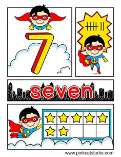 Hero Kids Number Posters and Worksheets: Your students will be superheroes when they practice their numbers from 1 to 20 with these fun posters and activity sheets! The exciting comic book style will grab your students' attention and the fun superhero characters will inspire them to keep practicing. By Pink Cat Studio