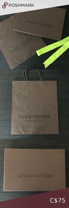 Check out this listing I just found on Poshmark: LOUIS VUITTON Brown Box, Bag and Ribbon. #shopmycloset #poshmark #shopping #style #pinitforlater #Louis Vuitton #Handbags Louis Vuitton Sarah Wallet, Louis Vuitton Speedy 35, Authentic Louis Vuitton, Louis Vuitton Monogram, Lv Pochette Metis, Green Ribbon, Box Bag, Vuitton Bag, Vintage Louis Vuitton