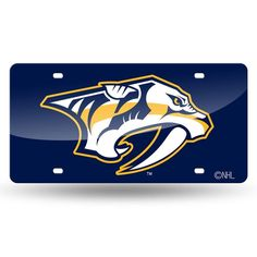 Nashville Predators NHL Laser Cut License Plate Tag xyz