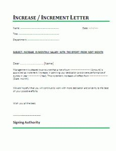 Salary Incremental Letter Template  Increment Letter